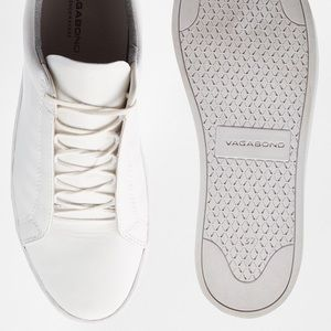 All white leather sneakers